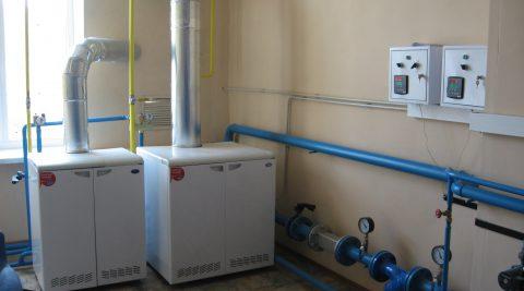 Котельная газовая мощностью 150 кВт с котлоагрегатами РОСС.