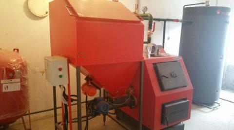 Твердотопливная котельная мощностью 50 кВт в пгт Великий Бурлук